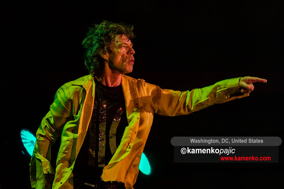 Mick Jagger performs in Washington DC